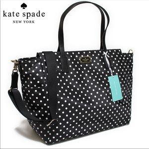 Kate Spade polka dots Taden Diaper Bag